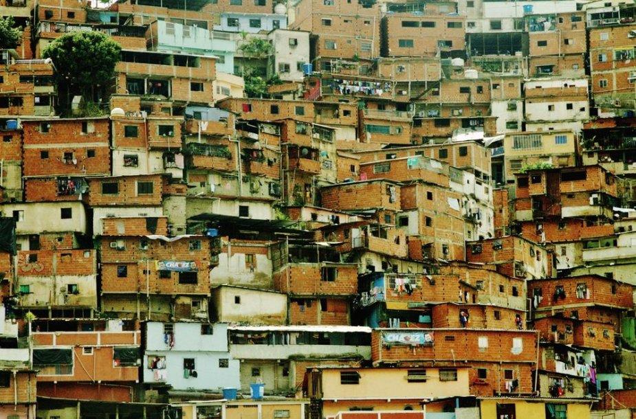 Petare - neturtingųjų rajonas Karakase.