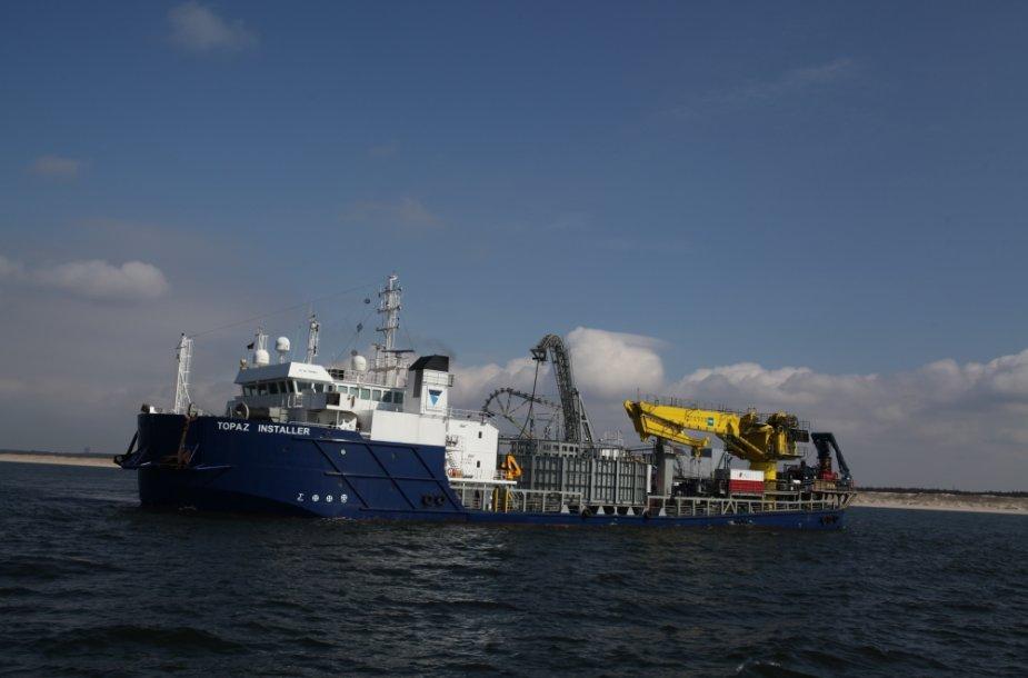 Pradėti kloti Nord Balt elektros laidai