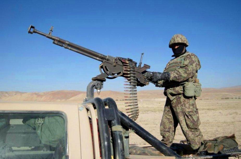 Afganistano nacionalinės armijos kulkosvaidininkas
