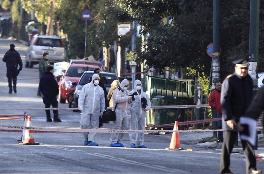 Atėnuose apšaudyta Vokietijos ambasadoriaus rezidencija