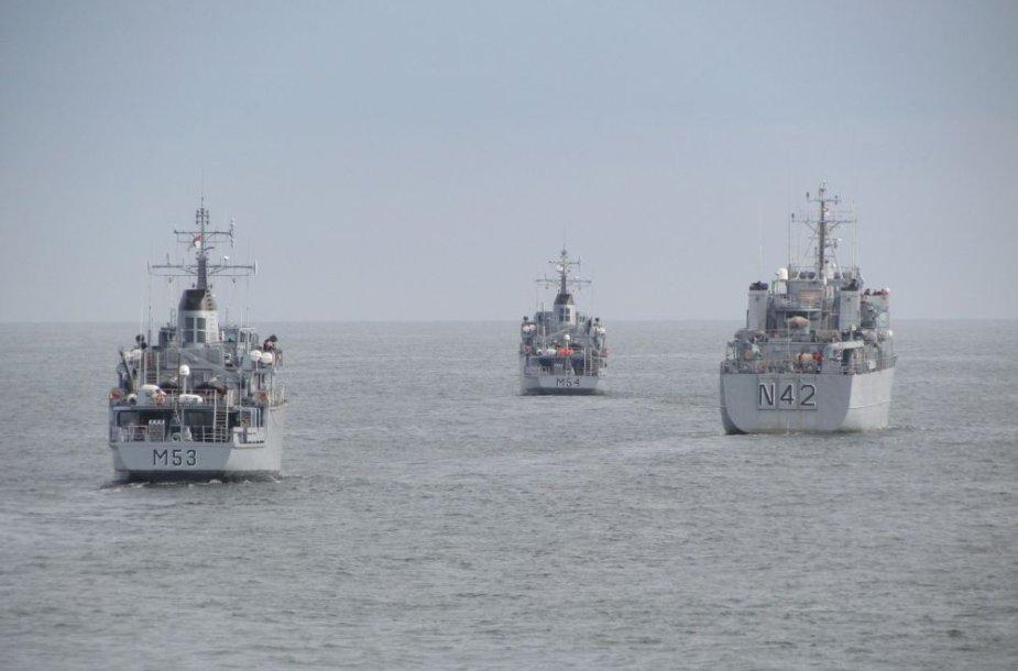 Karinės pratybos Baltijos jūroje