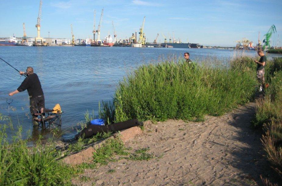 Malkų įlanką pamėgę žvejai