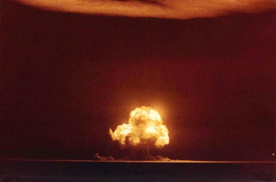 """Pirmosios """"Trinity"""" sprogimo akimirkos"""