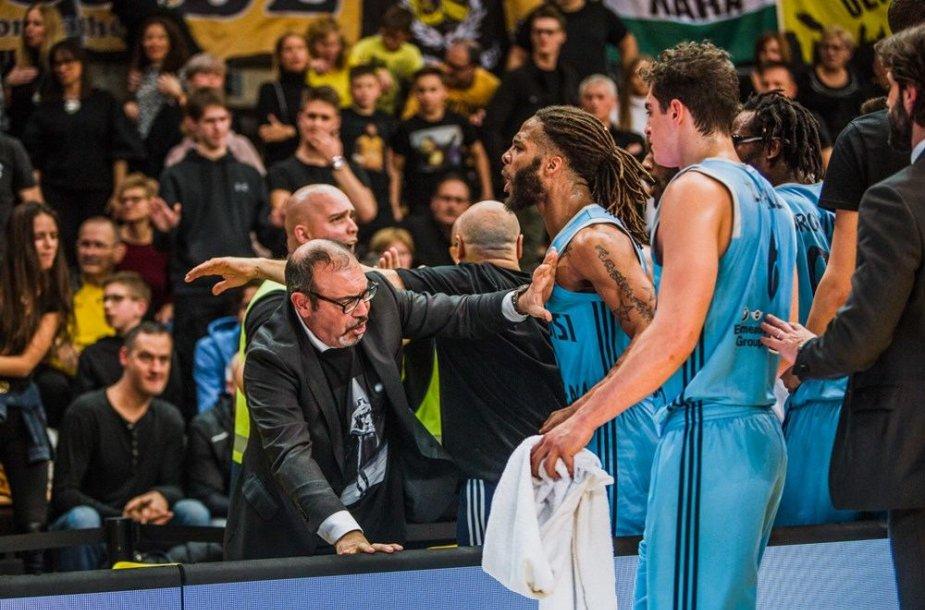 FIBA Čempionų lygos rungtynės paženklintos rasizmo protrūkiu