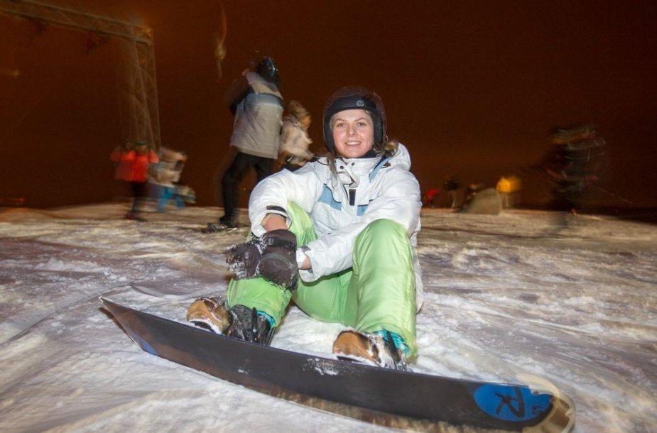 Naktinis slidinėjimas Liepkalnyje