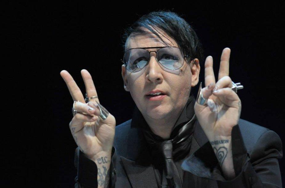 """Marilyn Mansonas """"Kanų Liūtų"""" festivalyje"""
