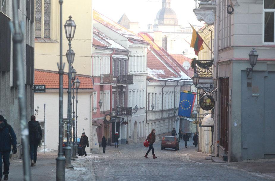 Pilies g. Vilniuje ankstyvą rytą