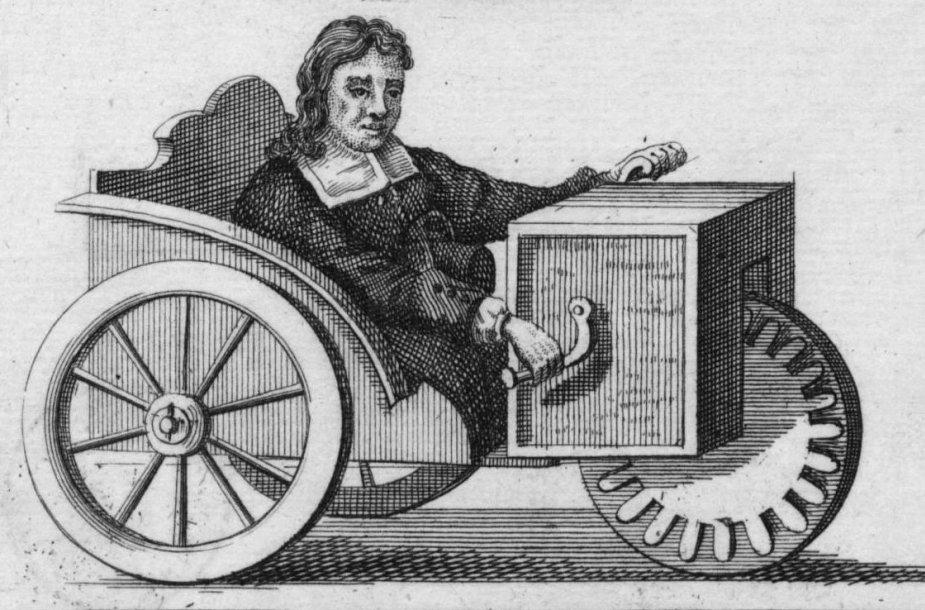 Farffleris savo triračiame vežimėlyje. (Wikimedia)