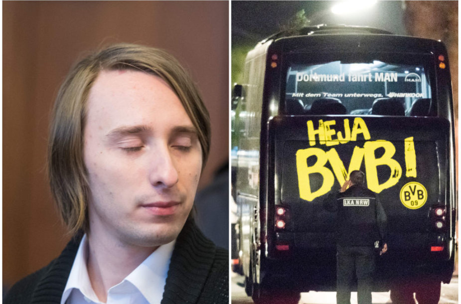 """Prisipažino sprogimo prie Dortmundo """"Borussia"""" autobuso kaltininkas"""
