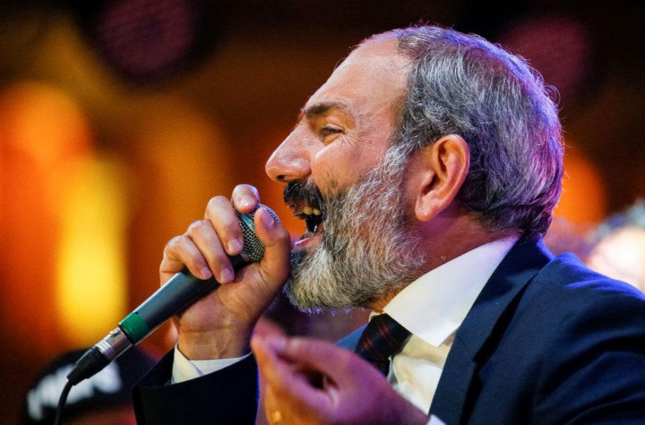 Armėnijos opozicijos lyderis Nikolas Pašinianas