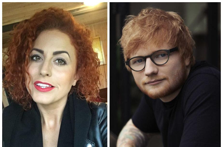 Julija Jegorova-Butavičienė ir Edas Sheeranas