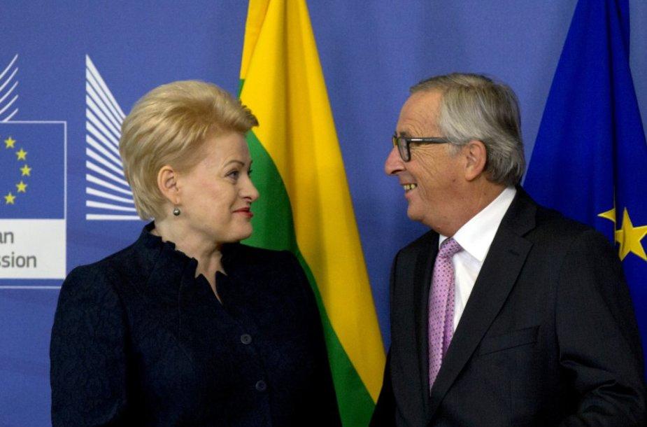 Dalia Grybauskaitė ir Jeanas-Claude Junckeris