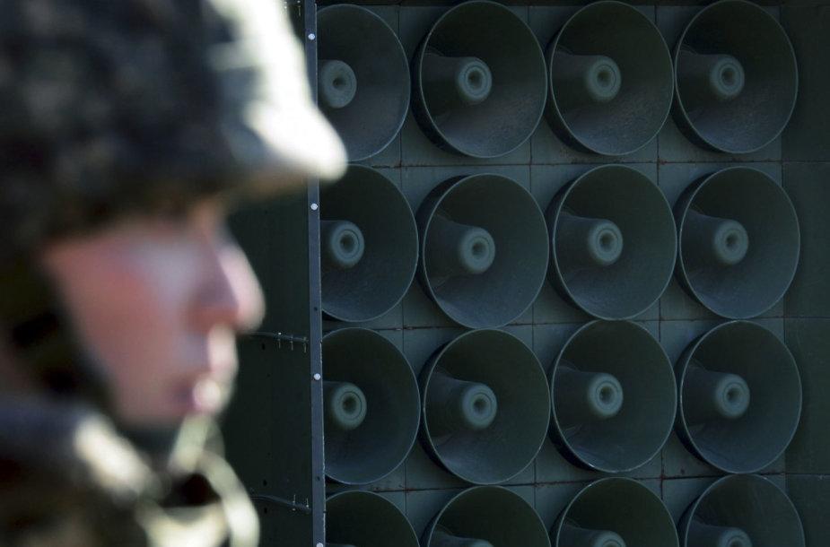 Pietų Korėja šiuos garsiakalbius naudoja tik kaip psichologinio poveikio ginklą