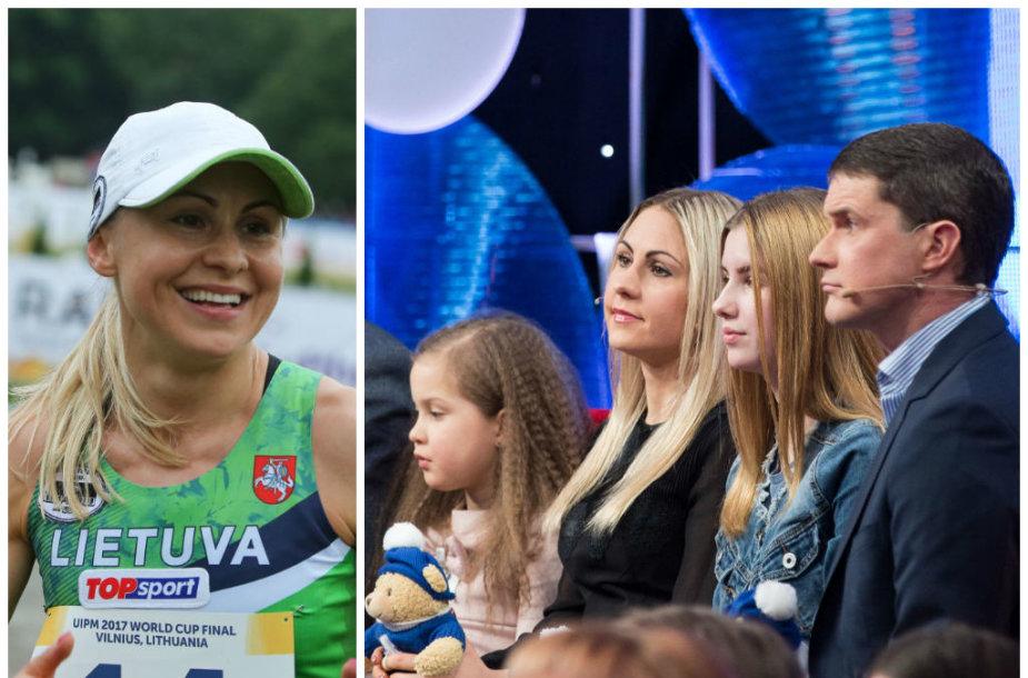 Laura Asadauskaitė-Zadneprovskienė su šeima