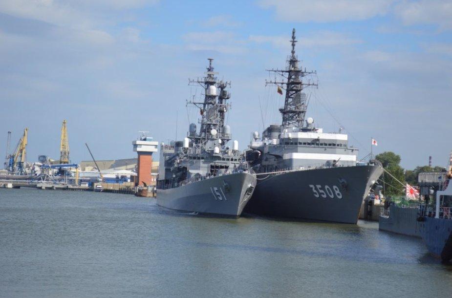 Klaipėdoje vieši Japonijos karo laivai