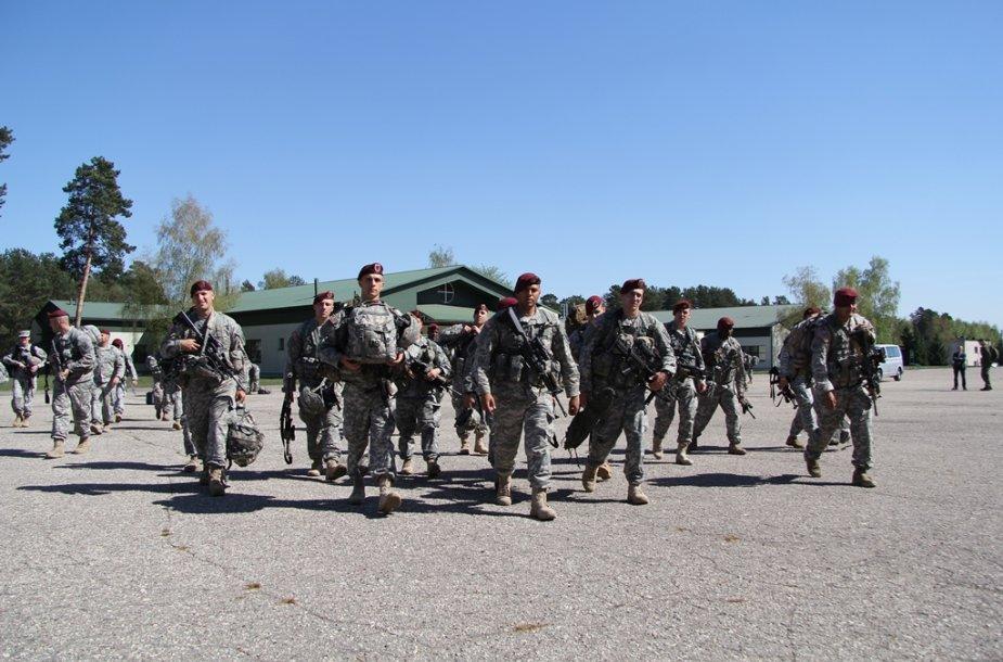 JAV kariai atvyko į Ruklą.
