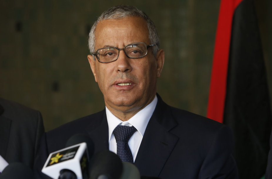 Libyan's Prime Minister Ali Zeidan speaks to the media during a press conference in Rabat, Morocco, Tuesday, Oct. 8, 2013. LibyaÕs prime minister, on a visit to Morocco, has stressed the importance of relations with the U.S. but maintains that Libyans have the right to be tried for crimes at home. (