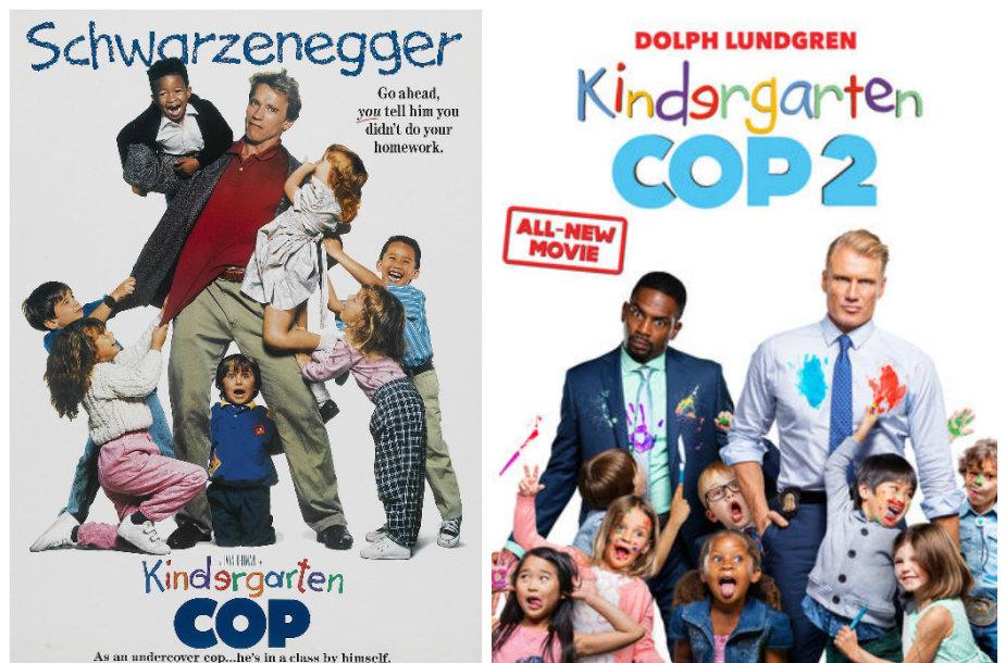 """Komedijos """"Vaikų darželio policininkas"""" tęsinyje Arnoldą Schwarzeneggerį pakeitė Dolphas Lundgrenas"""