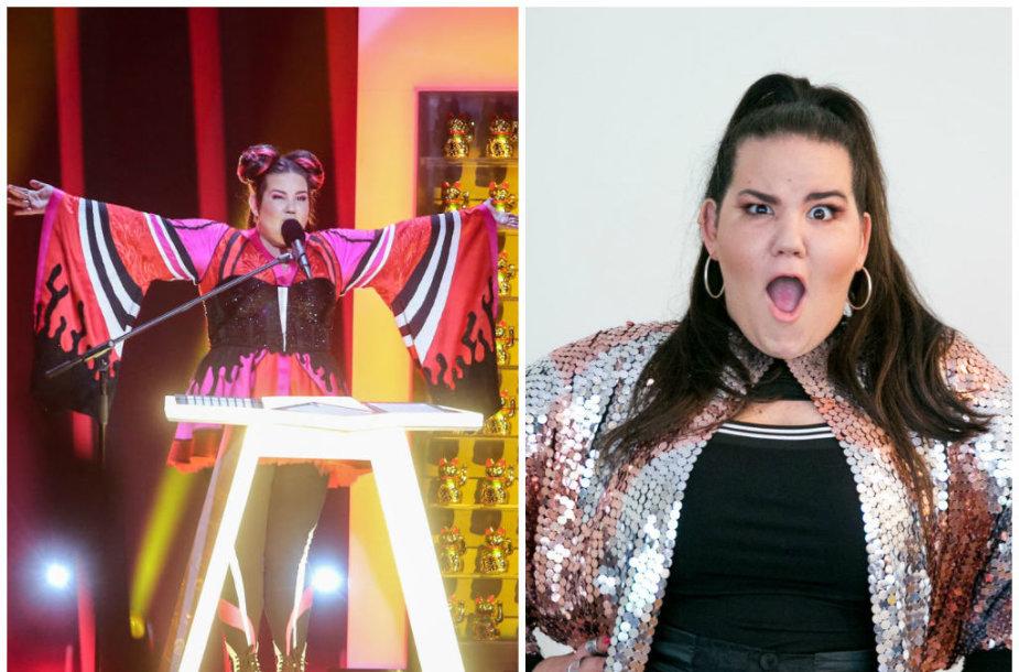 "Izraelio atstovė ""Eurovizijoje"" Netta Barzilai"