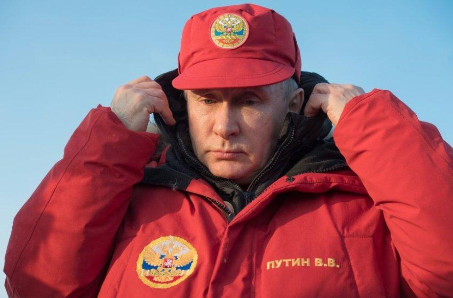 Vladimiras Putinas lankėsi Arktyje
