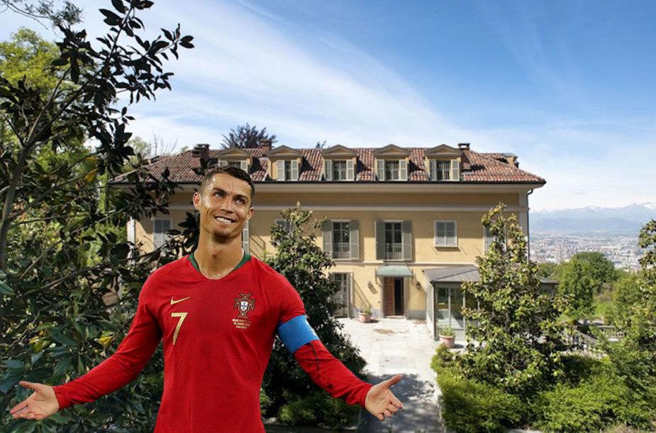 """Į Turino """"Juventus"""" persikėlęs Cristiano Ronaldo apsigyvens įspūdingame name"""