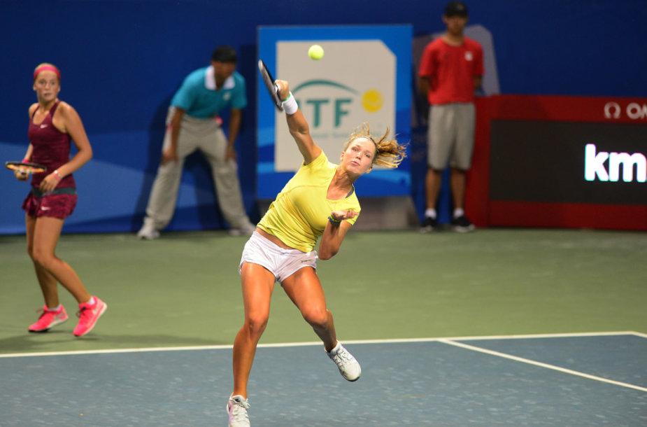 Akvilė Paražinskaitė tapo jaunimo olimpinių žaidynių teniso dvejetų bronzos medalio laimėtoja