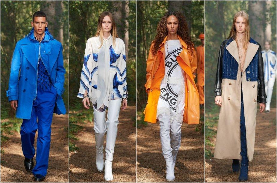 """""""Burberry"""" 2021 m. pavasario ir vasaros kolekcijos modeliai"""