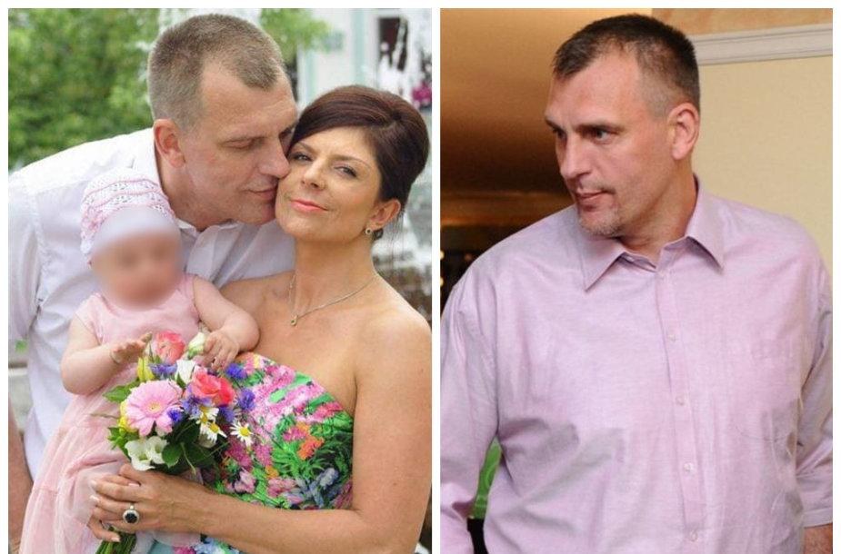 Gintaras Einikis ir Jurgita Žybartaitė su dukra Adriana