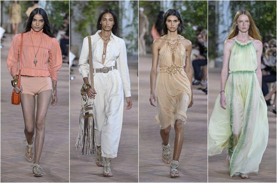 """""""Alberta Ferretti"""" 2021 m. pavasario ir vasaros kolekcijos modeliai"""