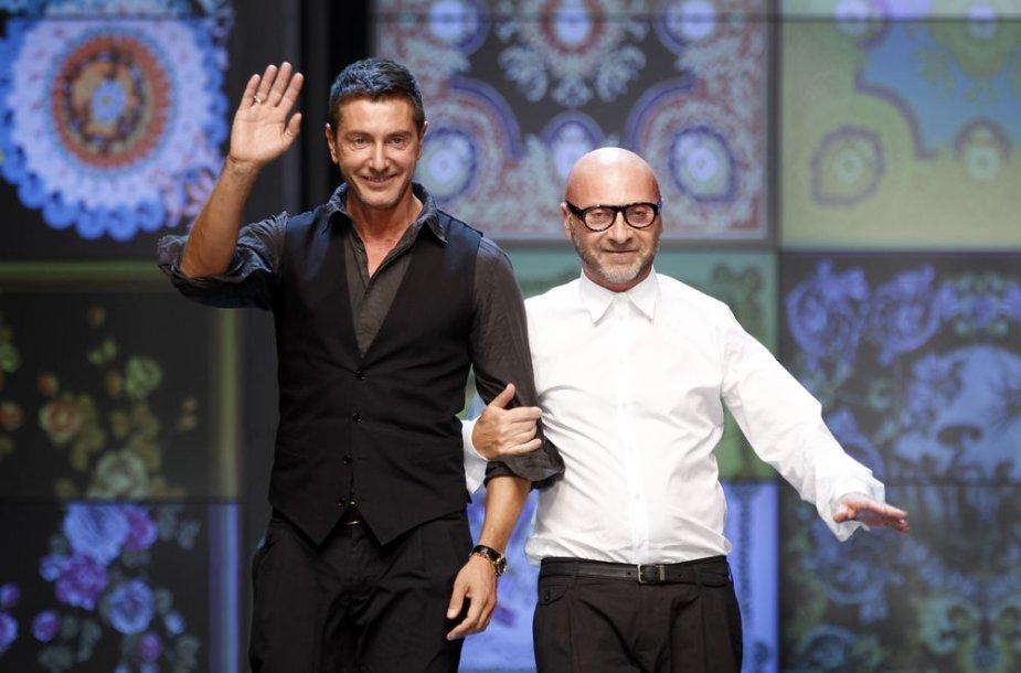 Dizaineriai Domenico Dolce (dešinėje) ir Stefano Gabbana