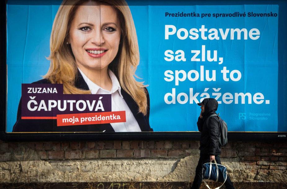 Zuzanos Čaputovos rinkiminis plakatas