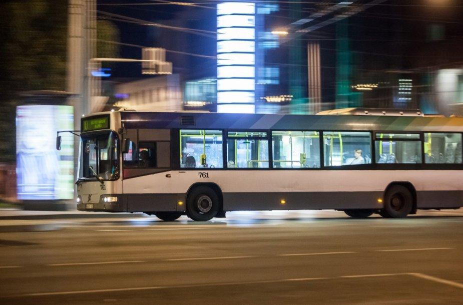 Naktinis autobusas Vilniuje