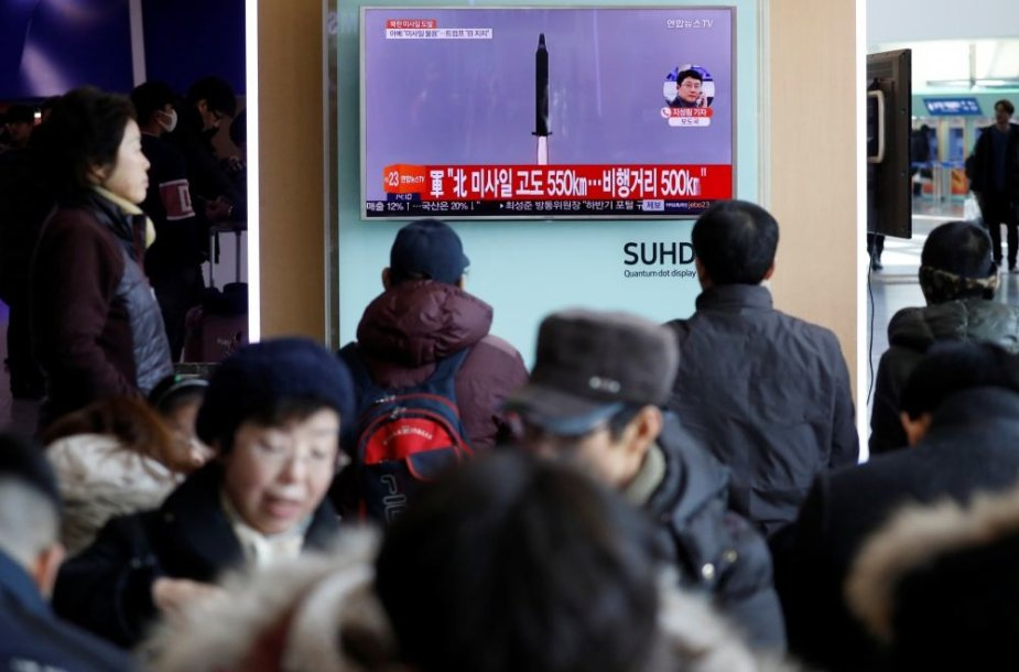 Šiaurės Korėja paleido raketą