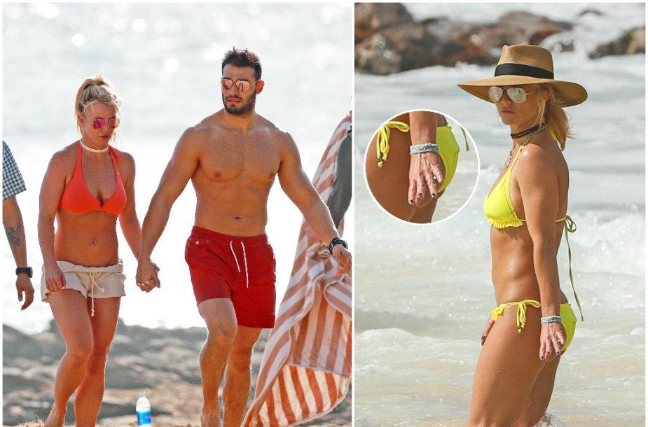 Britney Spears ir Samas Asghari Havajuose