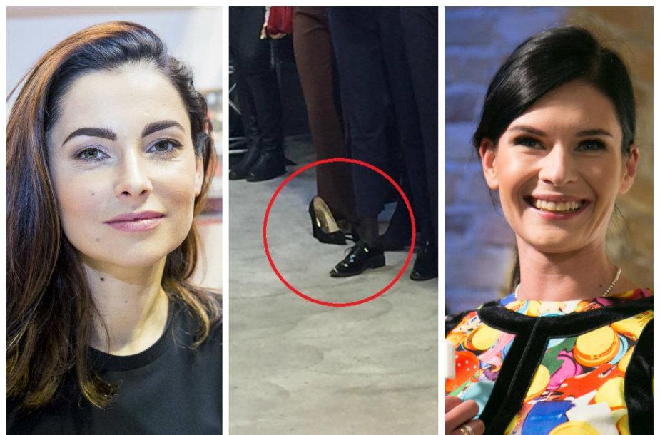 Agnė Jagelavičiūtė ir Austėja Jablonskytė skirtingai vertina batų nusiavimą viešame renginyje