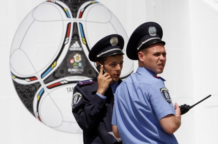 Ukrainos policijos pareigūnai