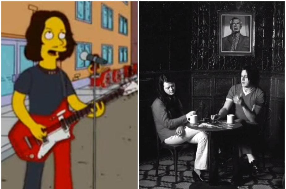 """Jackas White'as animaciniame seriale """"Simpsonai"""" ir filme """"Kava ir cigaretės"""""""