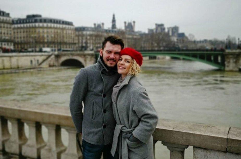 Liucinos Rimgailės ir Tado Rimgailos viešnagė Paryžiuje