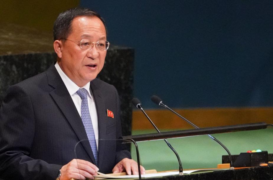 Šiaurės Korėjos užsienio reikalų ministras Ri Yong Ho
