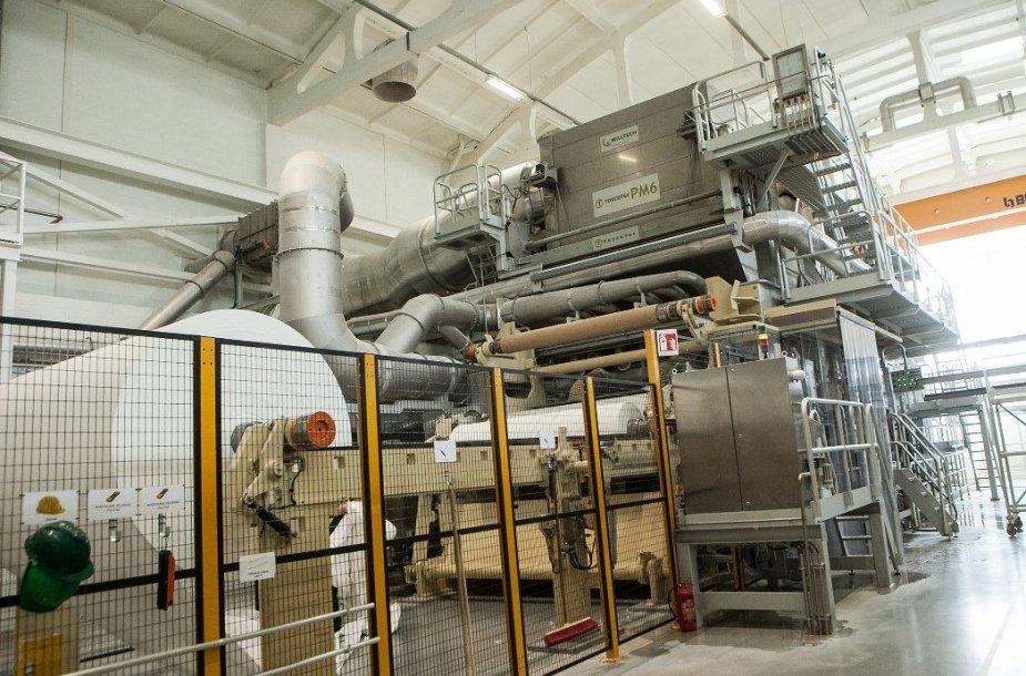 """Naujasis higieninio popieriaus gamybos cechas """"Grigiškės"""" gamykloje"""