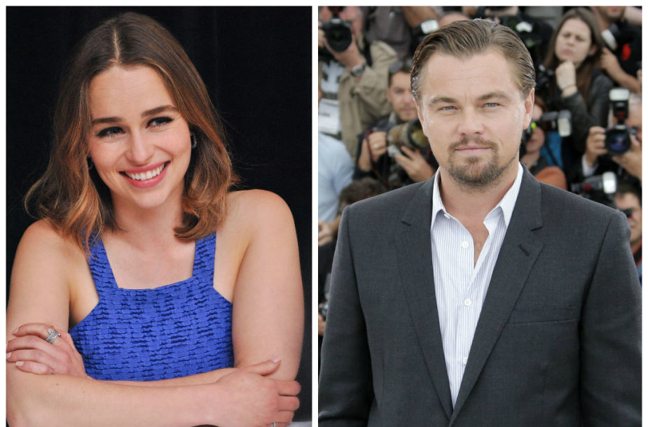 Emilia Clarke ir Leonardo DiCaprio