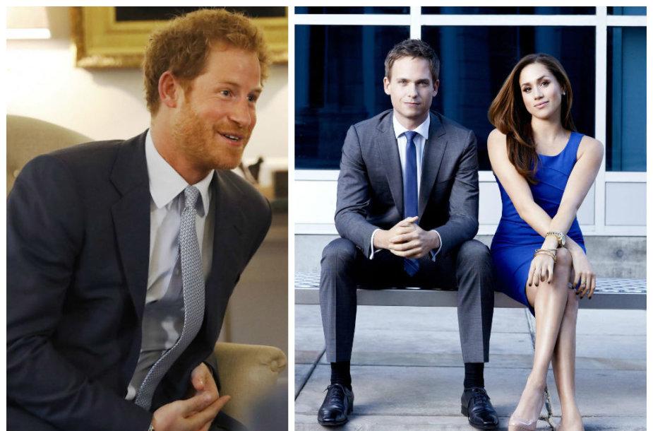 Princas Harry, Patrickas J. Adamsas ir Meghan Markle