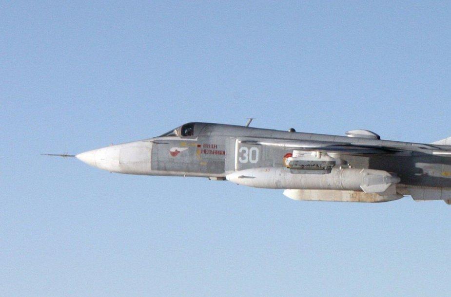 """Rusijos """"Sukhoi Su-24"""" naikintuvas"""