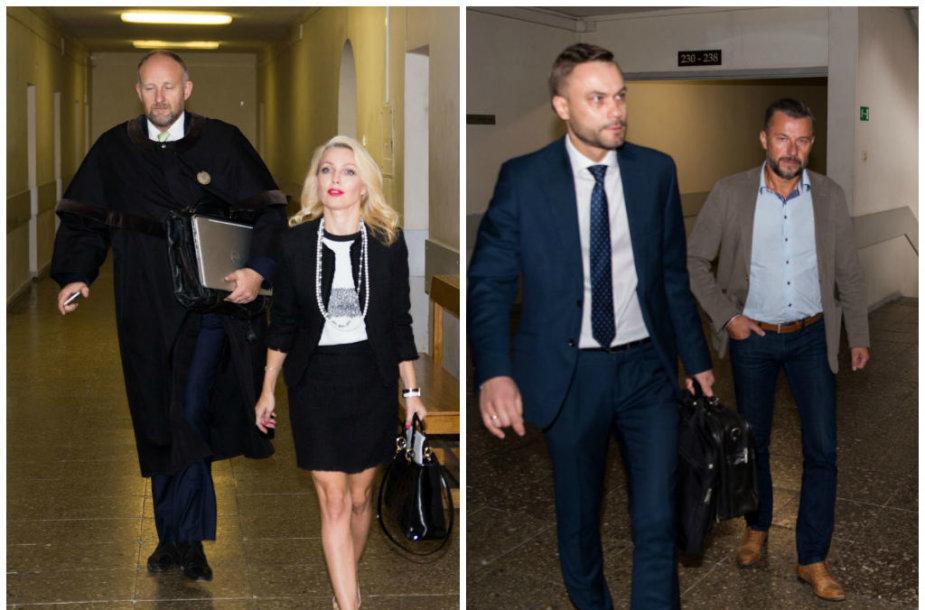 Natalija ir Sigitas Martinavičiai teisme