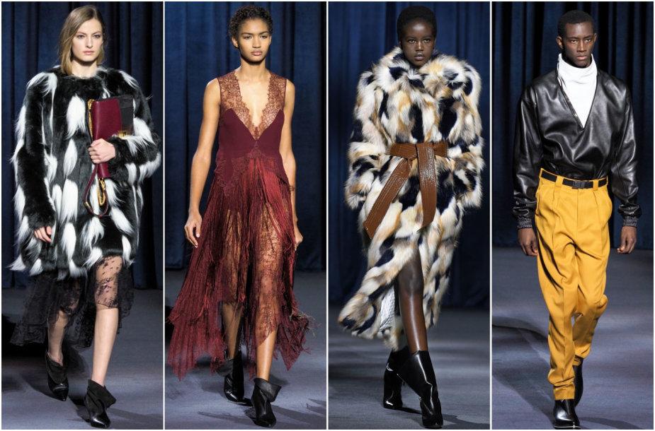 """""""Givenchy"""" 2018–2019 m. rudens ir žiemos kolekcijos modeliai"""