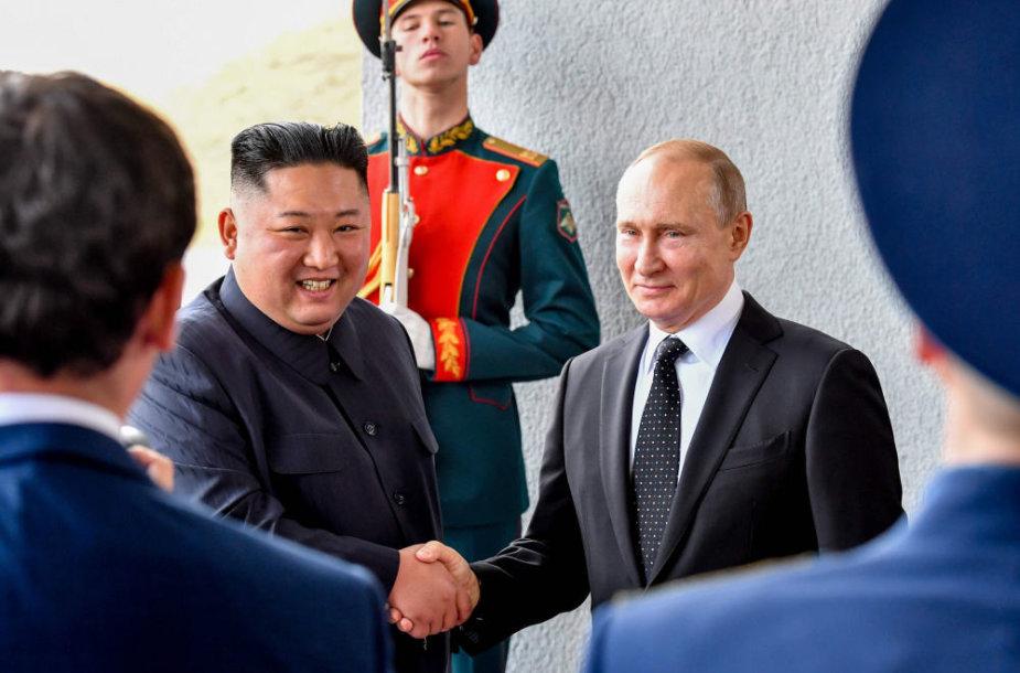 Kim Jong Unas ir Vladimiras Putinas