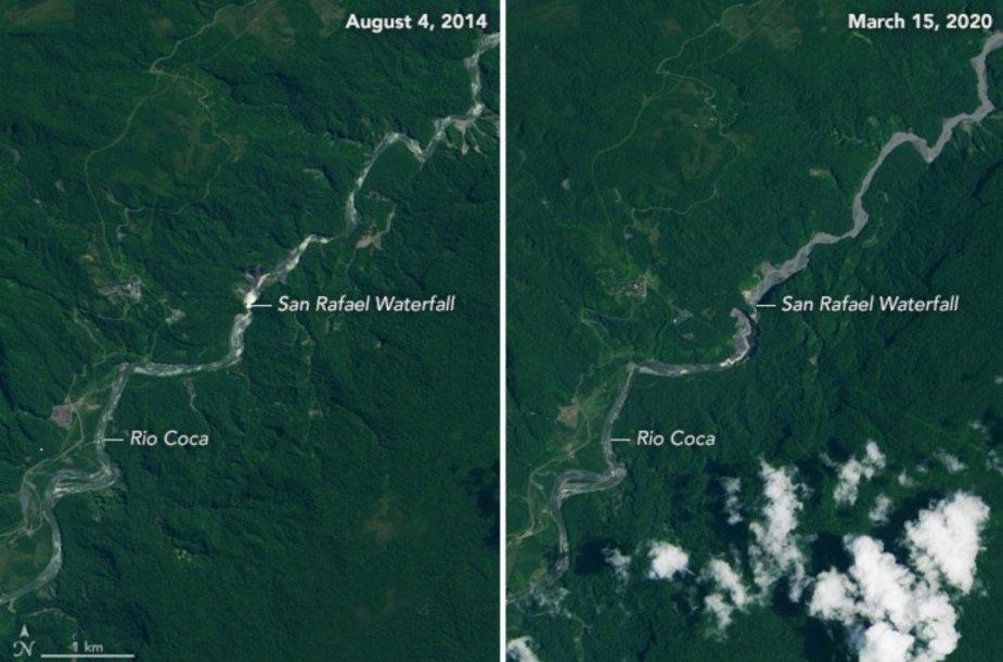 Išnyko didžiausias Ekvadoro krioklys