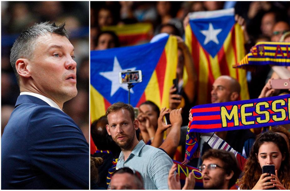 """Per rungtynes su """"Žalgiriu"""" katalonai gali pareikšti savo poziciją dėl politinių neramumų"""