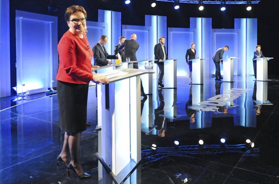 Premjerė Ewa Kopacz debatuose