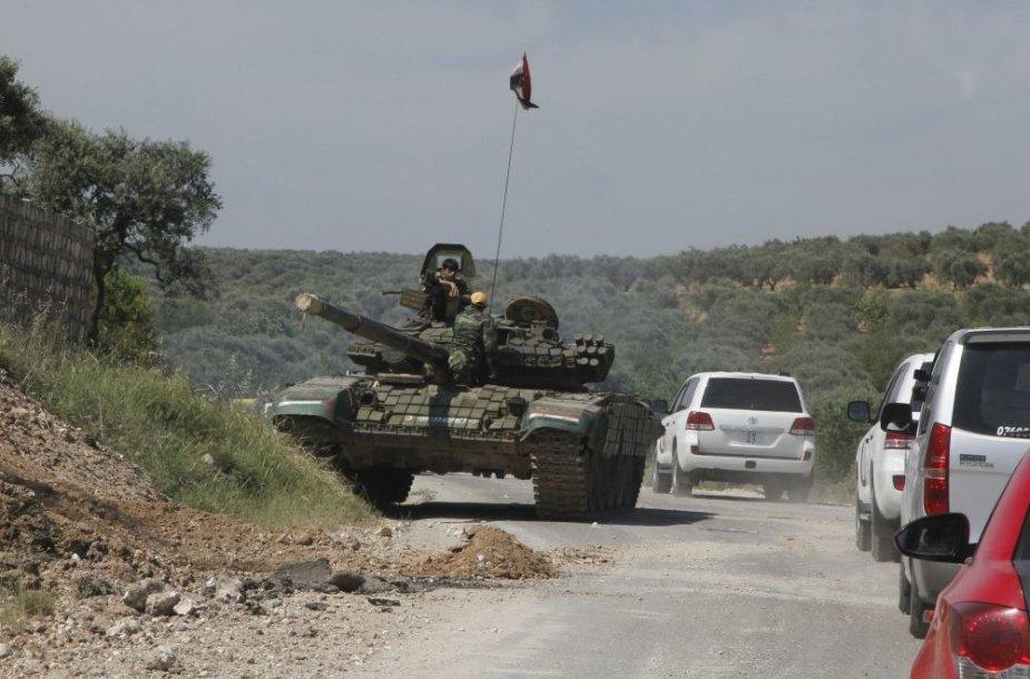 Sirijos kariuomenės tankas